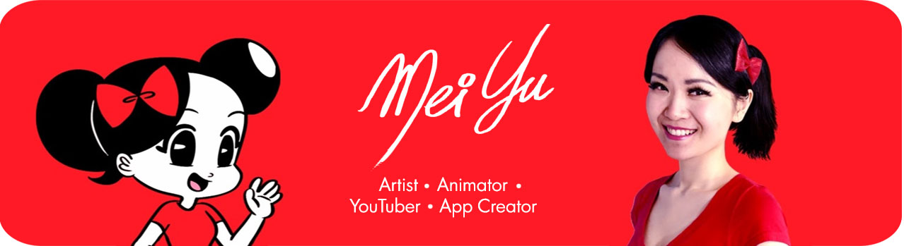 MeiYuArt website header for mobile devices, like smartphones or tablets.