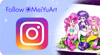 Mei Yu's Instagram, @MeiYuArt, featuring some of her hand-drawn artwork!
