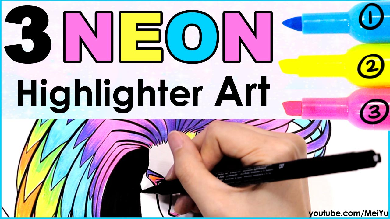 Mei Yu colors artwork using only 3 highlighters in this amazing Fun Friday art video.