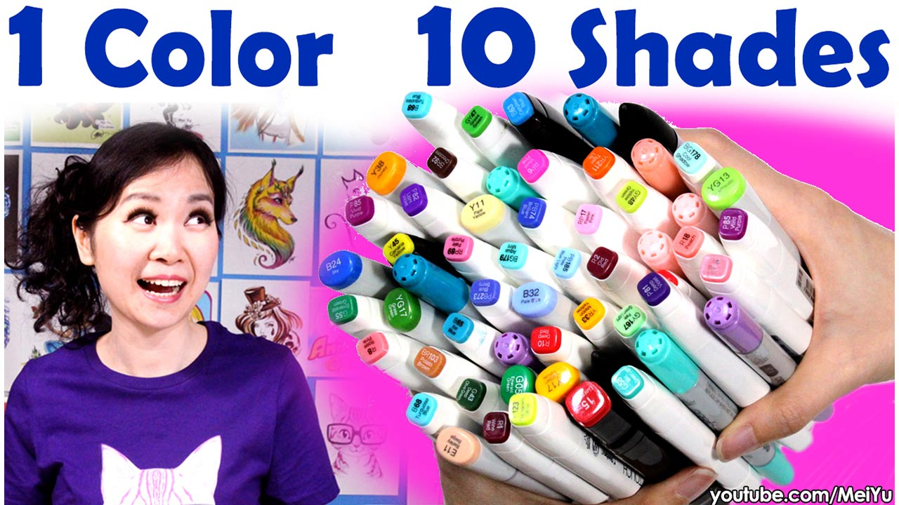 Mei Yu uses 1 color, 10 shades to color her artwork in this relaxing Fun Friday art illustration video.