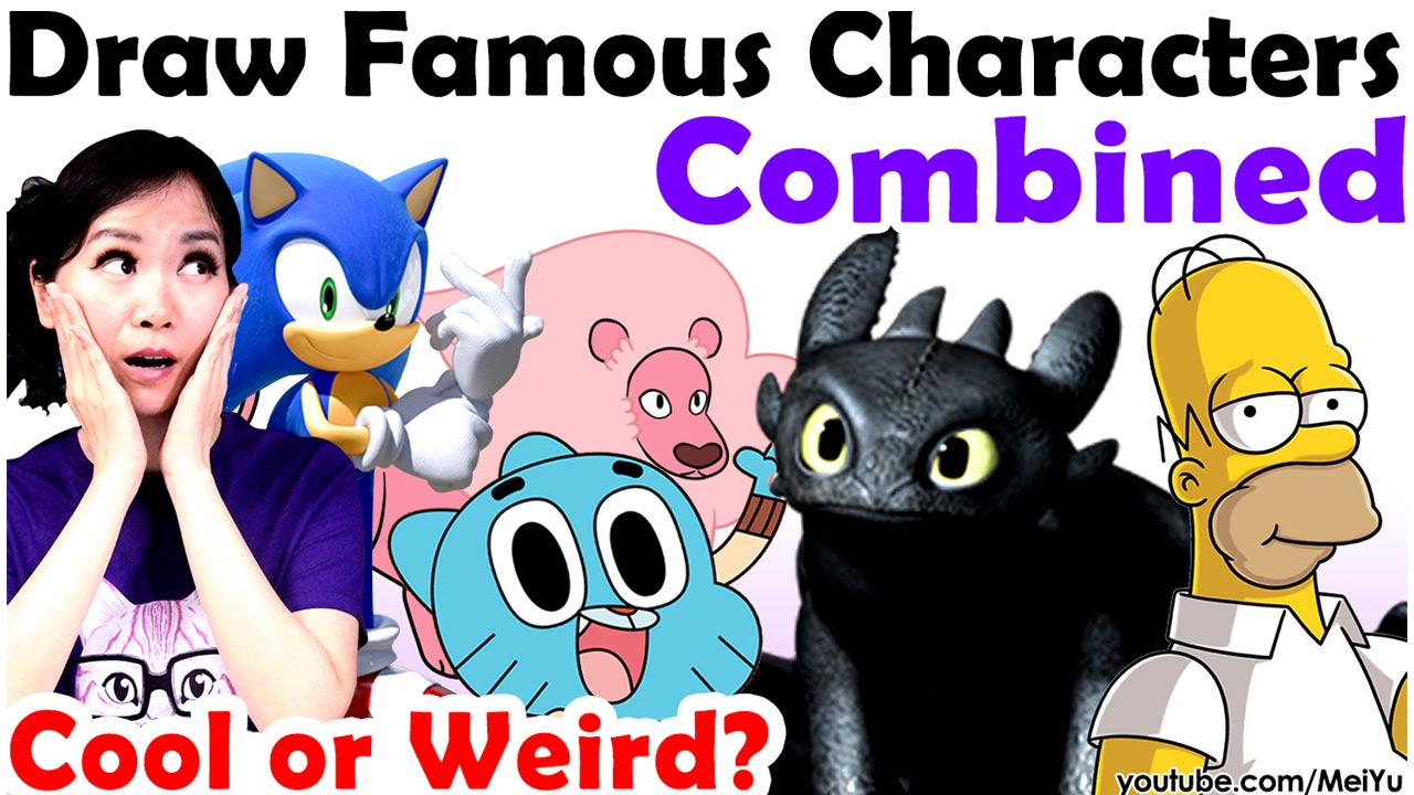 Mei Yu combines famous characters from How to Train Your Dragon, Kirby, Lilo and Stitch, Pokemon, Sonic 