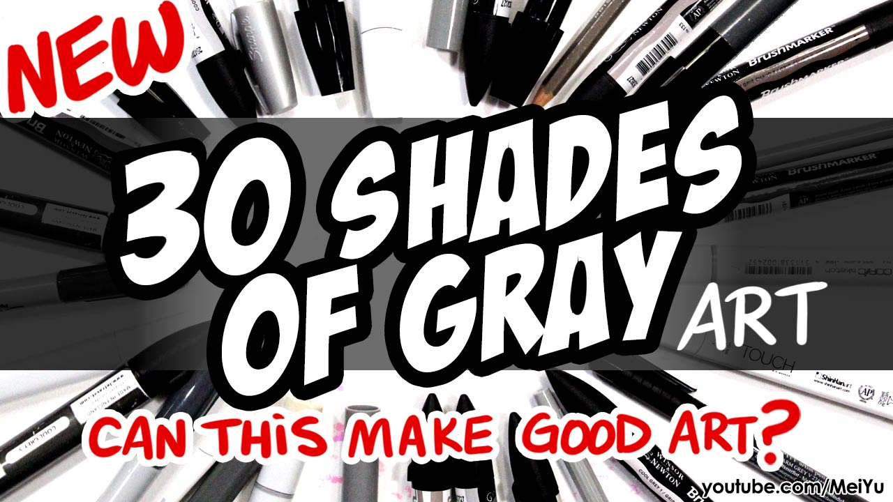 Mei Yu uses 30 shades of gray to color her artwork in this relaxing Fun Friday art illustration video.
